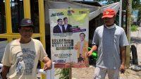 Simpatisan dan Pendukung Paslon MA-Mujiaman Pasang Banner di Rumah Masing-Masing