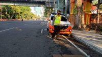 Satsabhara Polrestabes Surabaya Laksanakan Pos Pagi Demi Pantau Kelancaran Arus Lalu Lintas