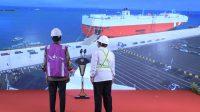 Presiden Saksikan Ekspor Perdana dari Pelabuhan Patimban