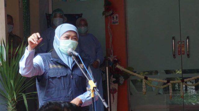 Jatim Tidak Lockdown, Khofifah: BOR Turun dan Kasus Melandai Selama PPKM