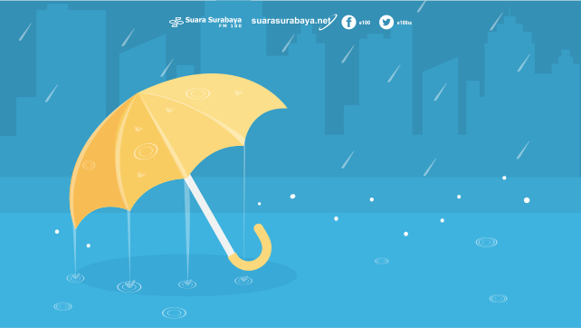 Kota Surabaya Diprediksi Hujan Ringan Hingga Lebat