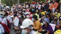Kedubes Indonesia di Myanmar Dikepung Demonstran