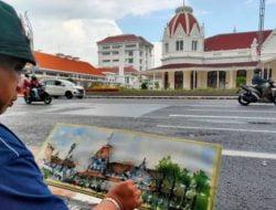 Sempat Dilarang Melukis di Area Balai Pemuda, Perupa Kolcai Nekad Abadikan Gedung Bersejarah Tersebut