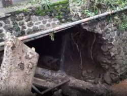 Perbaikan Gorong-gorong yang Ambrol di Banyuwangi Masih Menunggu Material