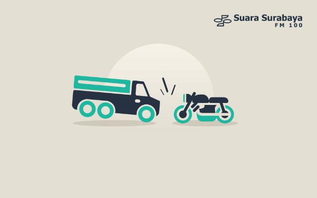 Sepeda Motor Tabrak Truk Parkir, Dua Orang Meninggal Dunia – Suara Surabaya