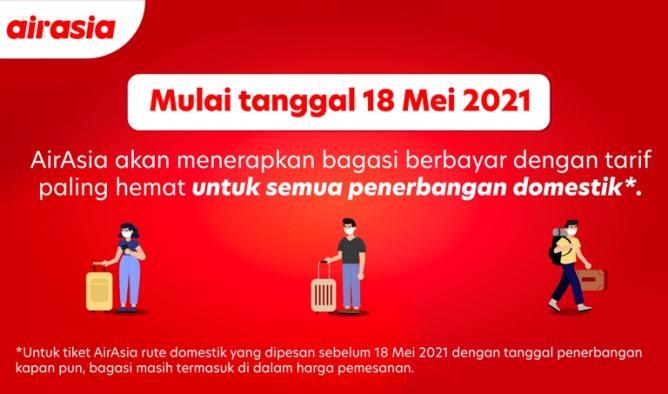 Ingat! Mulai 18 Mei AirAsia Berlakukan Aturan Baru Terkait Bagasi, Simak Detilnya di Sini