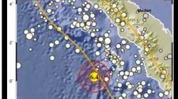 Gempa Bermagnitudo 6,4 Terjadi di Barat Daya Nias Barat