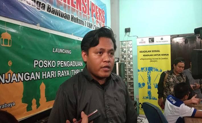 LBH Surabaya Dapat Laporan 20 Perusahaan Belum Berikan THR ke Buruh
