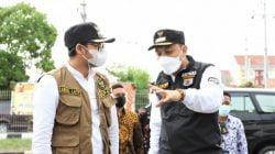 Penyekatan di Suramadu sisi Surabaya bantuan untuk Posko Bangkalan