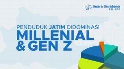 Penduduk Jatim Didominasi Milenial dan Gen Z
