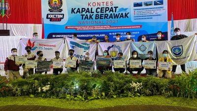 Tim ITS Borong 9 Penghargaan di Kontes Kapal Cepat Tak Berawak Nasional 2021