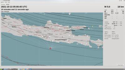 Gempabumi Tektonik Magnitudo 4,8 Guncang Pacitan Rabu Siang